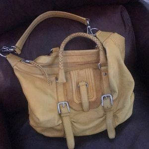 💛 THE SAK— Yellow Leather, Shoulder and Tote Hobo